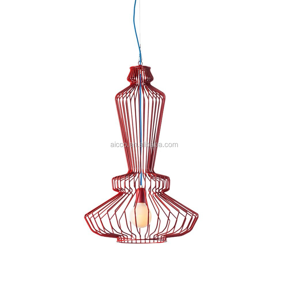 modern metal cage pendant light view decorative hanging pendant light