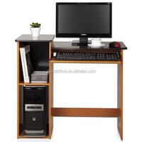 Simple design office table desktop computer desk with cabinet