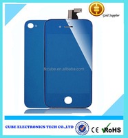 Colorful Electroplating LCD Touch Lens Screen Digitizier Repairs For Iphone 4s