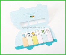 Creative paper flags notes with car shaped covers /stationery set