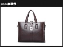2015 Newest PU leather man bag men's business bag