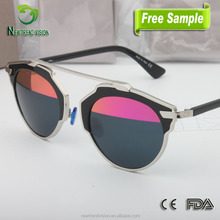 Italian brand best sell sun glasses china wholesaler private label vintage round retro sunglasses uv400 vintage 2015