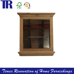 small wall storage book Cabine,wooden Cabinet with glass door,wood finishing Furniture