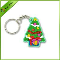 Christmas ornaments OEM soft PVC Christmas key chain