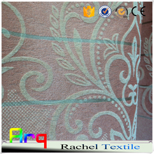 Living room/beddroom hotel curtain Middle east and African style 100% blackout flocked fabrics
