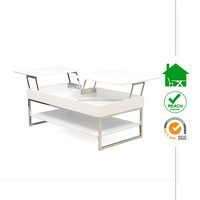 CT-3113 lift top white high gloss coffee table wood