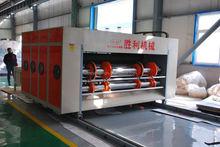 Carton printing machinery vertical large roller printing& slotting carton package manufacturing machine