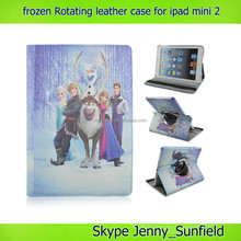 Super slim movie character rotating frozen case for ipad mini 2 , for ipad mini 2 frozen case