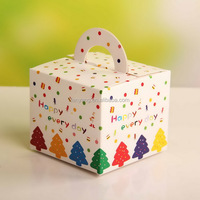 Christmas Tree Favor Boxes - Colorful Polka Dot Confetti Holiday Gift Box - Cookie, Cupcake, Treat Packaging