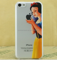 Snow White Transparent Ultra-thin Cartoon Character PC Phone Case for iphone 4 5 6 6 plus CO-PC-3009