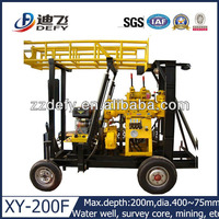 200m depth Georgernal Heat project and water well hand drilling machine