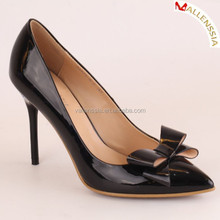 Womens Shoes Closed Toe High Heels Women's Pointed Slender Leather Pumps