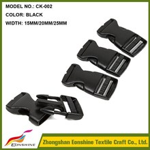 20MM Hot Sale Quick Release Plastic Buckle for Textile Webbing
