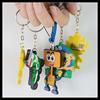 colorful 3d soft PVC keychain/key chain