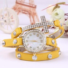 SY-35028 Best Sale Three laps leather cross watches