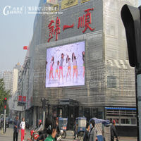 full color led outdoor signs display screen for building facade