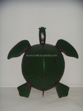 Black colored wrought cast iron tortoise wall decorations
