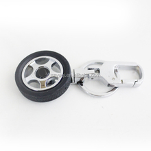 Factory promotional gift tyre shaped custom 3d metal key chain