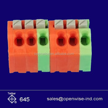 Quick in 3.5mm pitch 6 pins multi color PCB terminal block