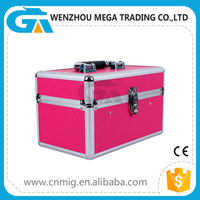 Pink Make Up Aluminum Cosmetic Case