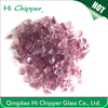 Purple colored engineered stone terrazzo glass chips