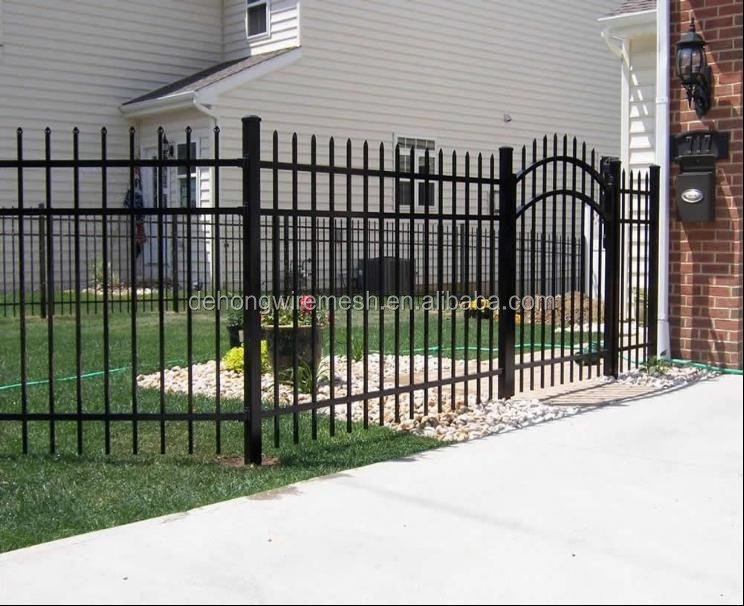 Industrial spear top wrought iron fence panels tubular