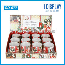 Attractive cardboard countertop display box for christmas candle