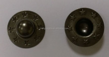Fabric Use Metal Ring Snap Button