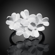 The Hot-selling Fashion Silver Flowers Joker Female Smart Ring