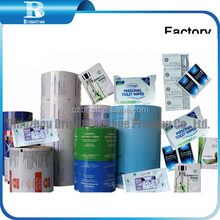 Heat seal laminating plastic film for wipes package, baby wipes Packaging film