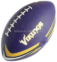 rubber or leather rugby ball american football official size