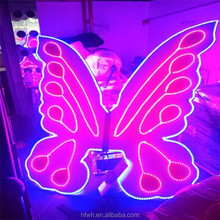 LED Belly Dance Wings / Remote Controlled LED Butteryfly Wings for Stage