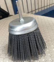 75mm abrasive filament shaft-mounted floor cleaning brush