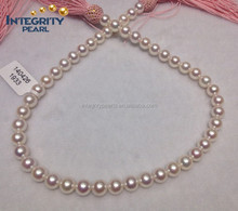 9 - 10 mm AAAA perfect round Akoya beautiful decoration natural pearl strand