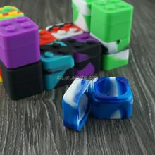 2015 hot selling Custom Wholesale Mini Cheap small butane hash oil silicone container square silicone oil container