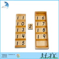 Kids Home Teaching Montessori Wooden Toys in China made