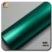 TSAUTOP 2015 New Arrival 1.52*20m Dark Green brushed matte chrome vinyl car wrap
