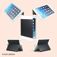 High quality pu leather smart cover case for apple ipad air 5 smart cover case