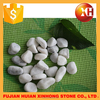 White natural big size pebble stone paver for garden decoration