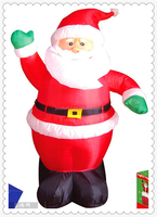 CILE 2015 latest promotional large Inflatable Santa Claus for sale