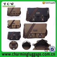 Fashion men style hot selling OEM available canvas vintage leather duffel bag