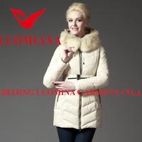 2014 Hot sale latest high quality shiny fashion winter woman faux fur coat white