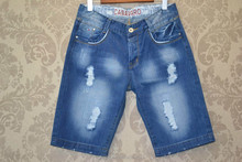 Short destroyed jeans for men