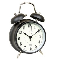 Hot sell 4 inch clear numeral antique twin bell metal table top alarm clock