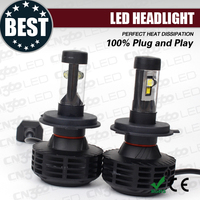 Latest no fan design 3000lm G6 hi lo led headlight car h4 led kits with 5 colors available