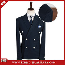 High quality double breasted men pants suit