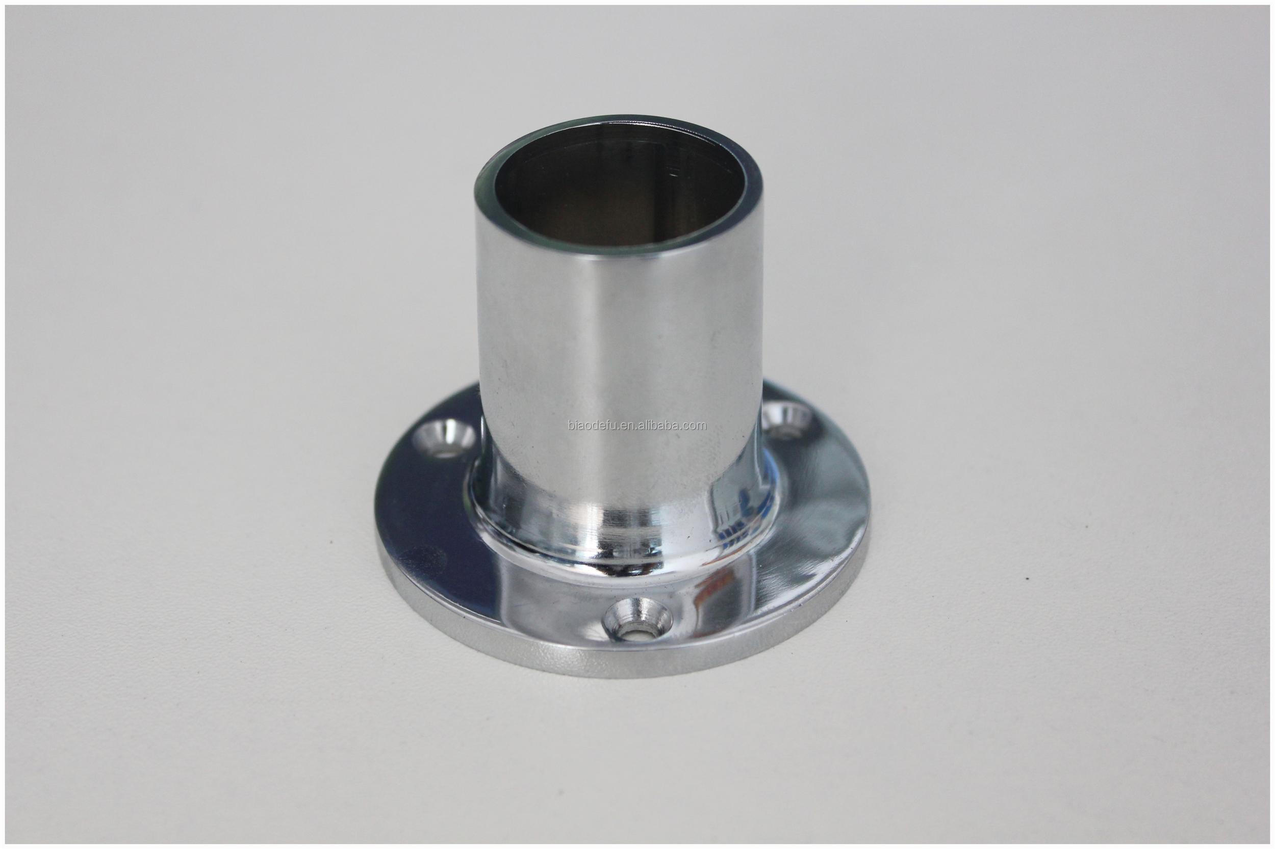 Mm round pipe fitting flange post base view