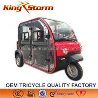 closed cabin ,2000W electric tricycle with passenger seat