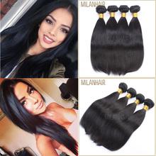 Best Sale Milan Hair Hair 6 Inch Wholesale Unprocessed 100% Natural Color Human Hair Beyonce Weaving