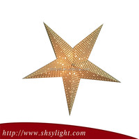 christmas decoration lighted paper star for holiday party